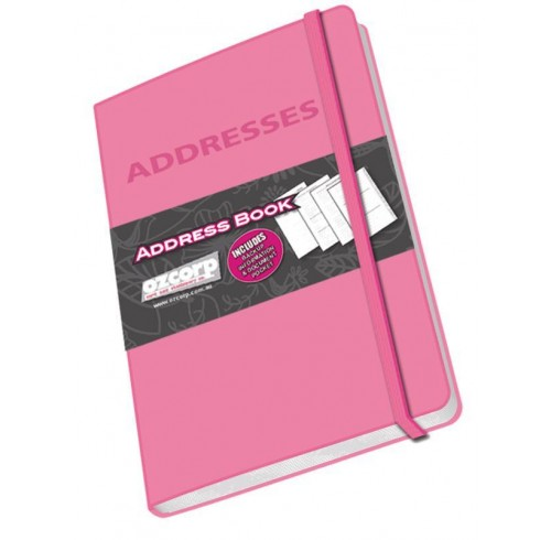 Address book ozcorp mini 85x125cm pink