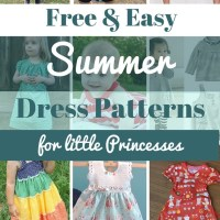 Free & Easy Dress Patterns for little Princesses - see all at www.easyonthetongue.com