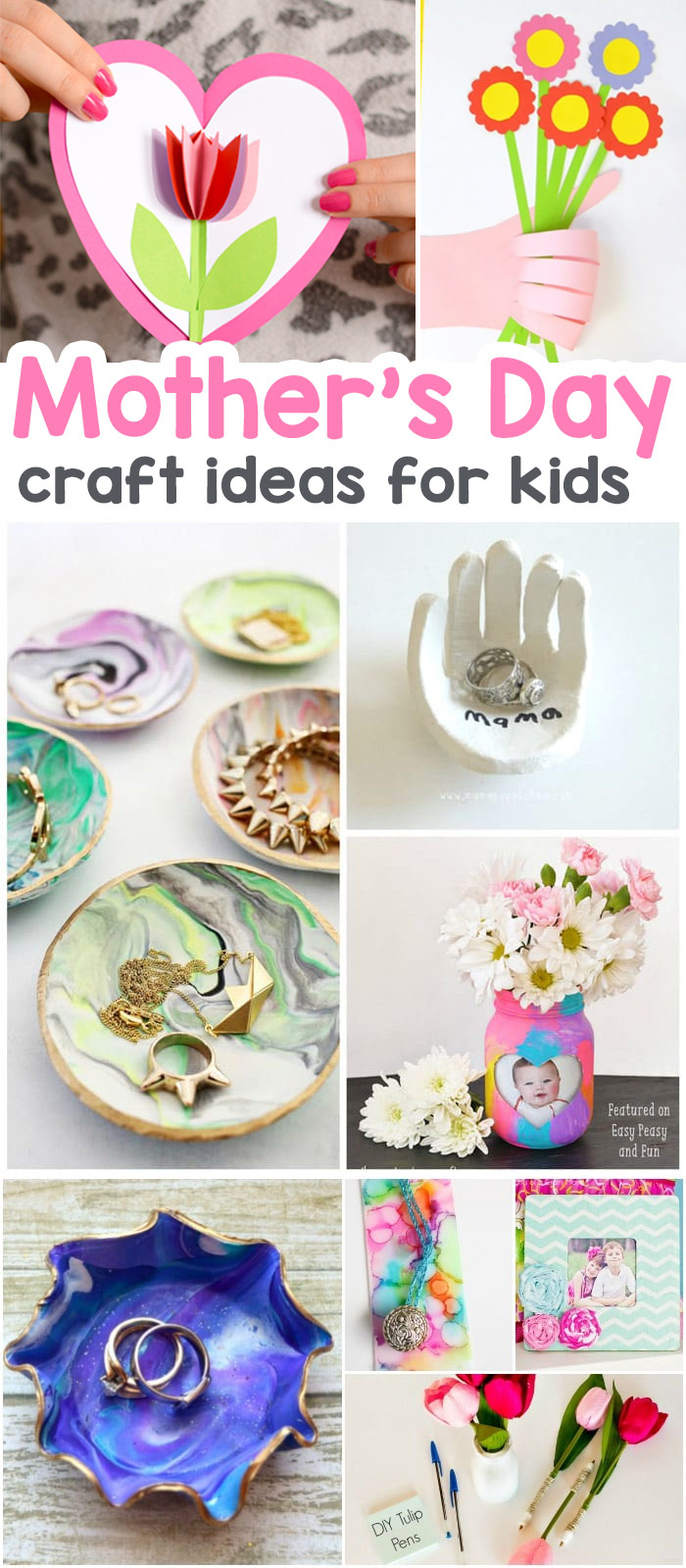 Awesome Diy Mother's Day Gifts 25 Mothers Day Crafts For Kids Most Wonderful Cards Keepsakes