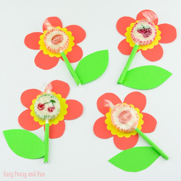 Calla Lily Flower Template Sweet Lollipop Flowers - Easy Peasy And Fun