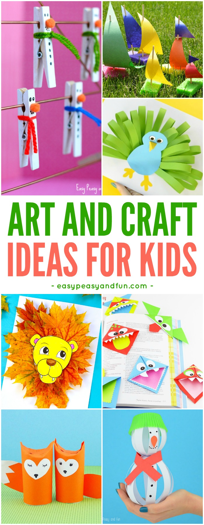 Art Craft Ideas Crafts For Kids Tons Of Art And Craft Ideas For Kids To Make