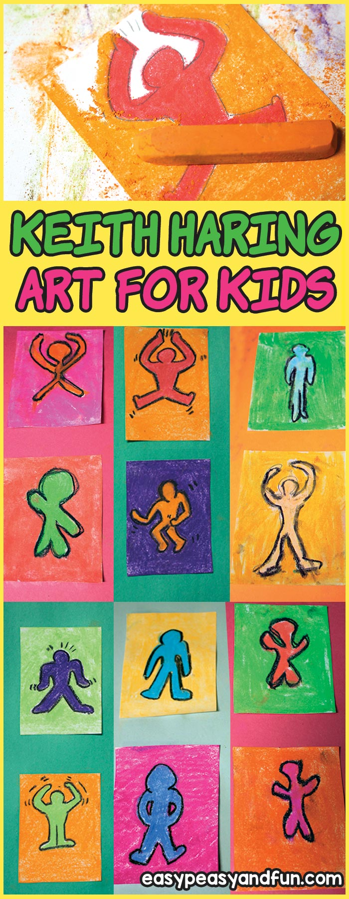 Keith Haring Art For Kids Pop Art Lesson Idea Easy Peasy And Fun
