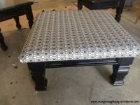 DIY Table To Ottoman And How To Paint Furniture Without ...