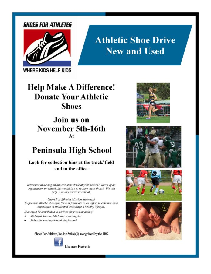 Athletic Shoe Drive New and Used - Easy Reader News