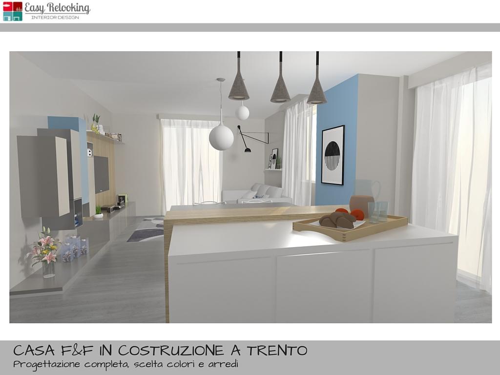 Cucina Soggiorno Open Space Progetto | Colore Arredamento Cucina A ...