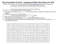 Image of Population Growth Worksheet - Free Geography for ...