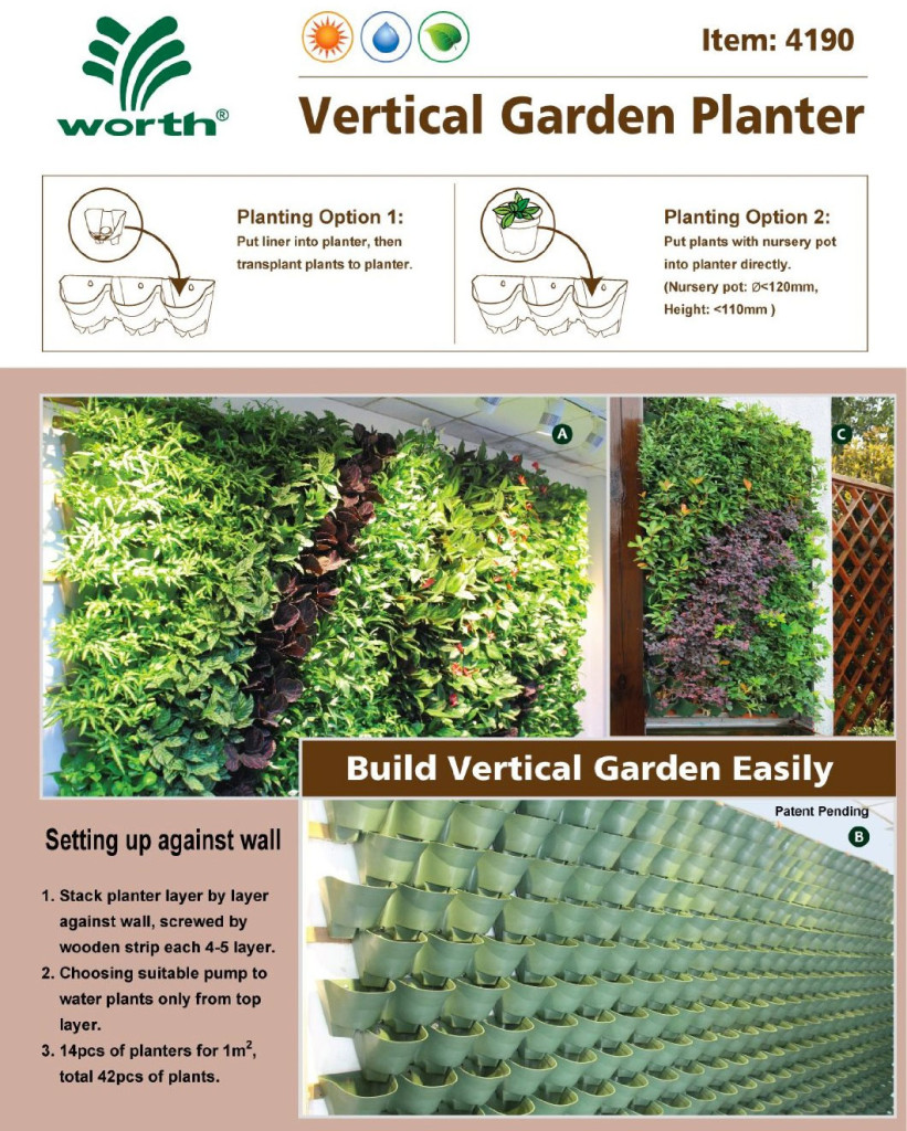 Make Self Watering Planters Self Watering Vertical Planter Makes Vertical Gardening Easy