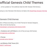 Unofficial Genesis Child Themes