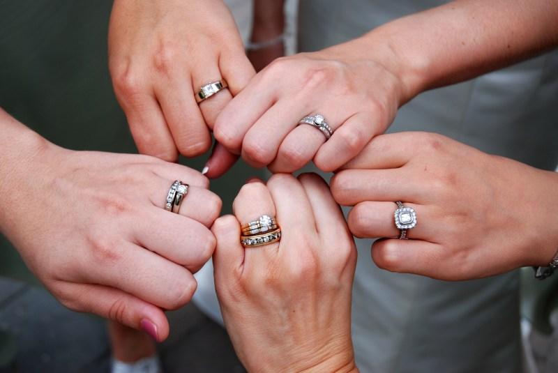 Large Of Engagement Ring Finger