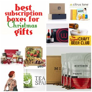 Subscription boxes for Christmas gifts