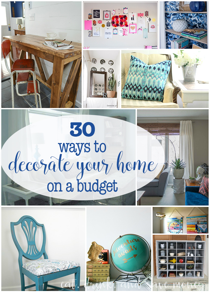 30 ways to decorate your home on a budget eat drink - Home decor on a budget ...