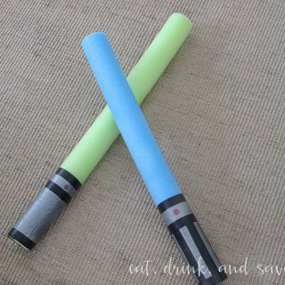 Dollar tree noodles to make light sabers