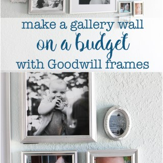 How to make a gallery wall on a budget with Goodwill frames