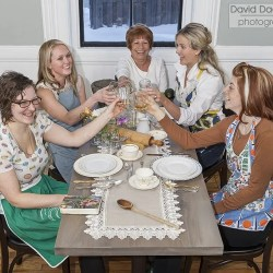 Clockwise from lower left: Melissa Denmark, Jessica Wood, Maria Meza, Kaitlyn Roberts, Jordan Goldsmith