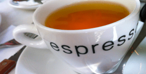 Is it allowed to drink tea from an espresso cup?