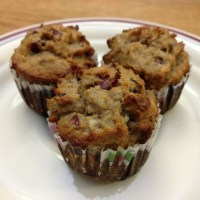 Cranberry Walnut Banana Cupcakes