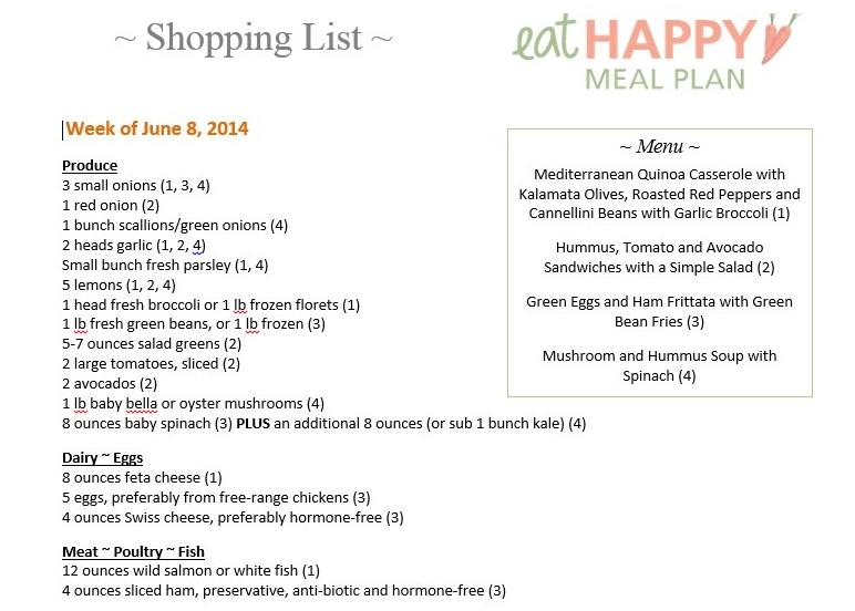 This Week\u0027s Meal Plan ~ Healthy Meal Plans ~ Mediterranean Week - healthy meal plan