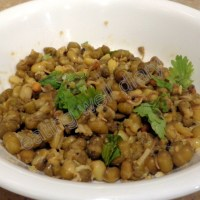sprouted moong sundal (dry curry)