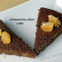 clementine date cake (egg-free, sugar-free, whole wheat)