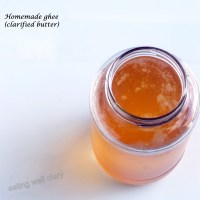 Homemade clarified butter (ghee)