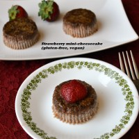 Strawberry Mini-cheesecakes - a Mother's Day Special (gluten-free, vegan)