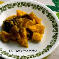 Zero-Oil, 5-Ingredient Lime Pickle for Diabetes Friendly Thursdays