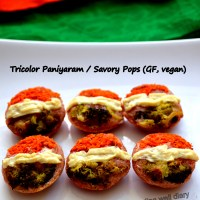 Tricolor Paniyaram / Savory Pops - Independence Day Special (Diabetes Friendly Thursdays)