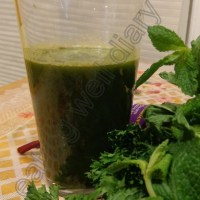green juice recipe-3 (mint and parsley)