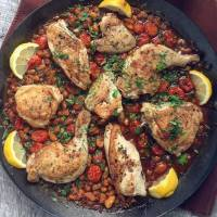 """Life Changing"" Harissa Chicken and White Beans"