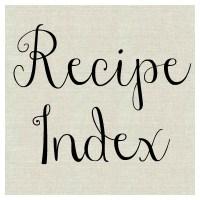 {Recipe Index}