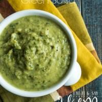 Avocado and Tomatillo Green Salsa