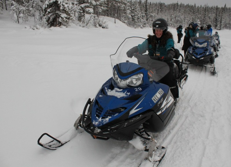 I went out for a wilderness lunch on a snowmobile - electrifying! I am now hooked