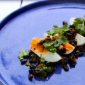 Breakfast Eggs with a Lively Black Bean Chilli Sauce