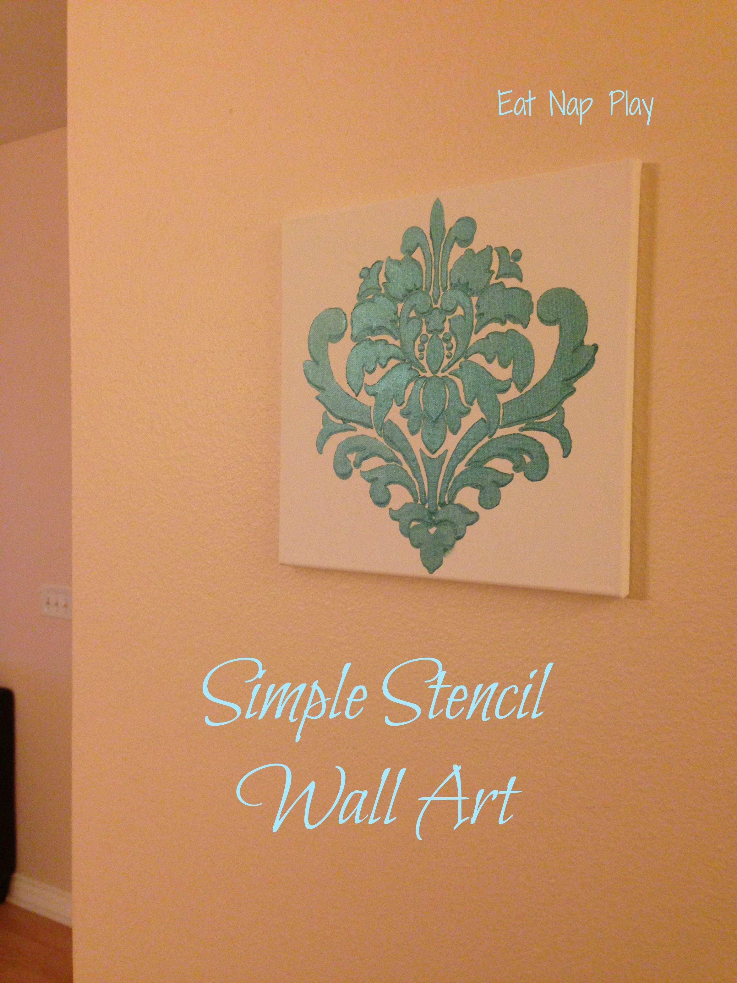 Simple Wall Designs Stencils Stenciled Canvas Meet Natalee From Eat Nap Play