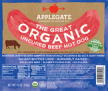 C- applegate organic beef hot dog