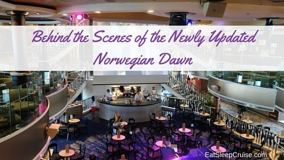 Behind The Scences Norwegian Dawn Pictures Following Refurb