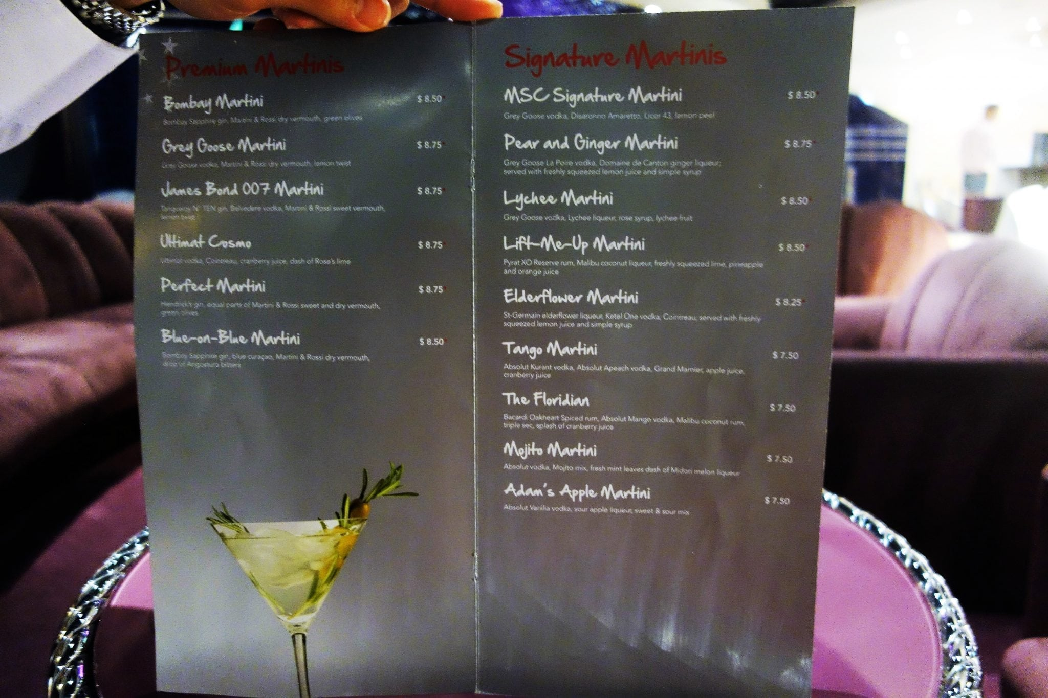 Cocktail Liste Complete Guide To All The Bars On Msc Divina