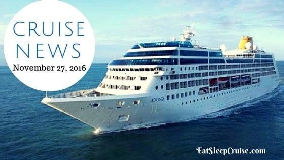 Cruise News November 27, 2016