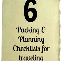 Packing and Planning Checklists for Traveling