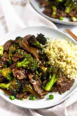 Sterling Plate Filled Cauliflower Pedwith Sesame Seeds Paleo Beef Broccoli Stir Fry Eat Gains Stir Fry Broccoli Rabe Stir Fry Broccoli Artwork Paleo Beef Broccoli