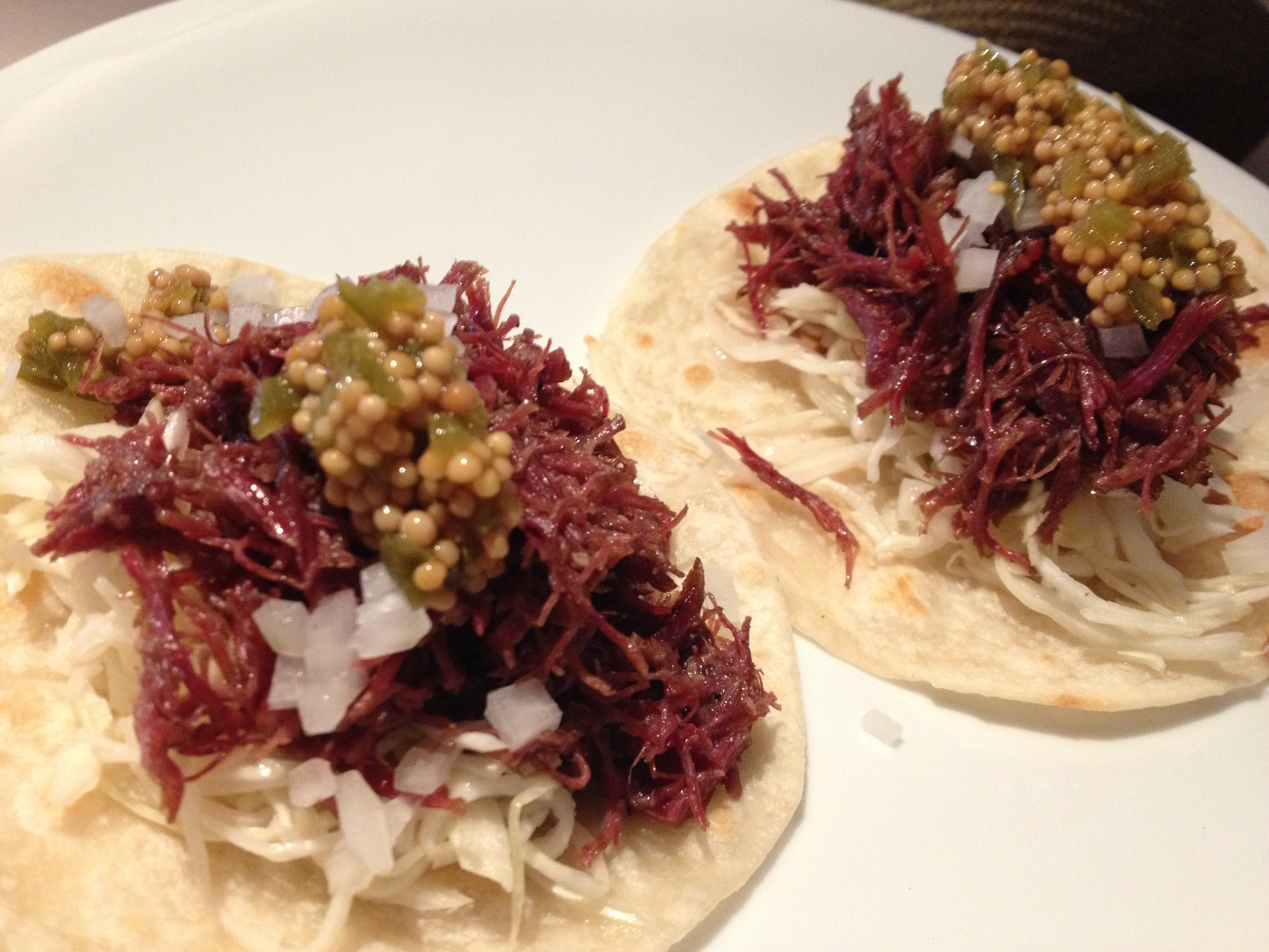 Cocinas Kosher Dish Of The Week Shortrib Pastrami Tacos At EmpellÓn Cocina Eat