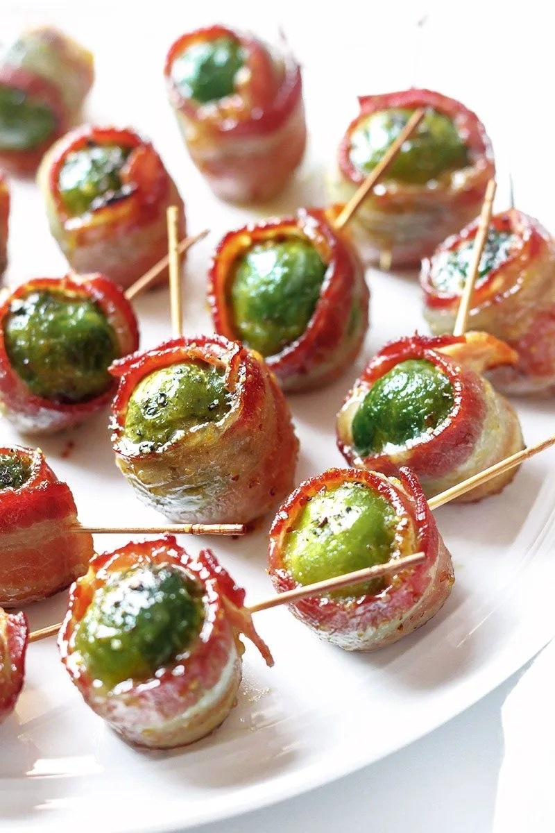Healthy Christmas Appetizers Pinterest Bacon Roasted Brussels Sprouts