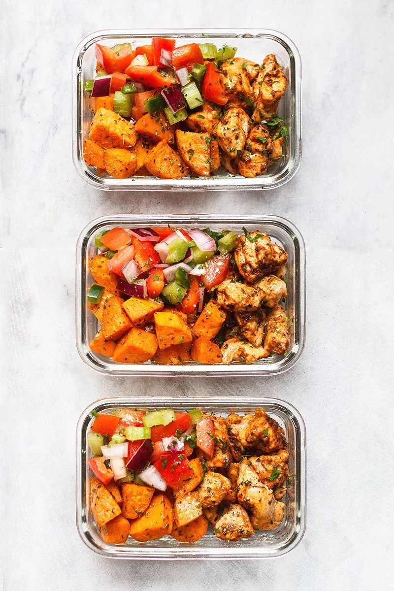 Healthy Meal Prep Meal Prep – Roasted Chicken And Sweet Potato — Eatwell101