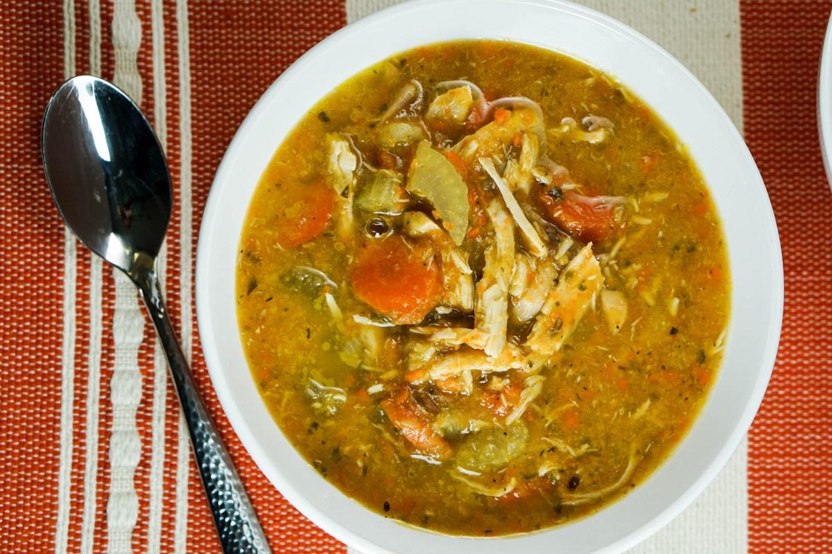 Immune Boosting Chicken Vegetable Soup