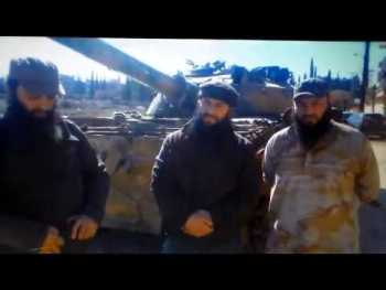 "Syria Video: Chechen-Led Jaish al-Muhajireen wal-Ansar ""Giving Aid To Syrians"" In Kafr Hamra"