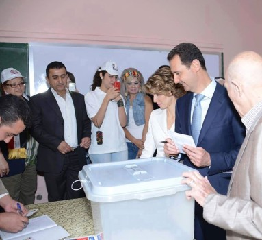 ASSAD VOTES ELECTION