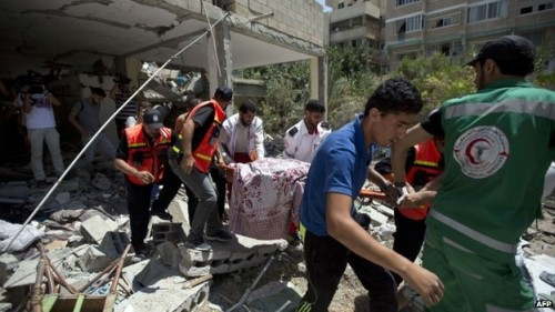 GAZA WOUNDED RESCUE WORKERS