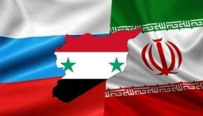IRAN SYRIA RUSSIA FLAGS