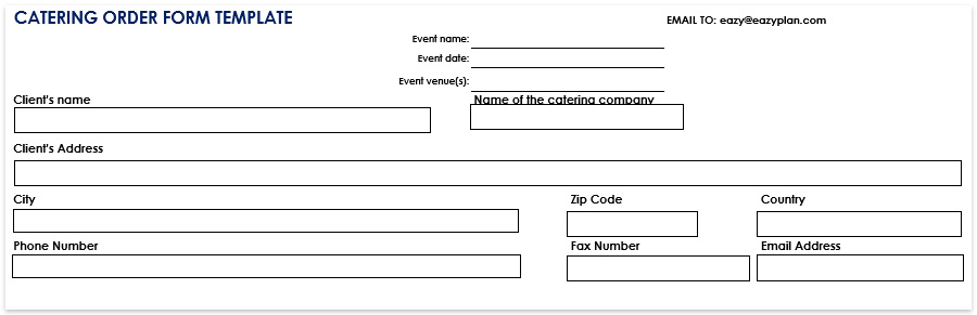 Catering order form template download free word pdf, download now  - catering order form