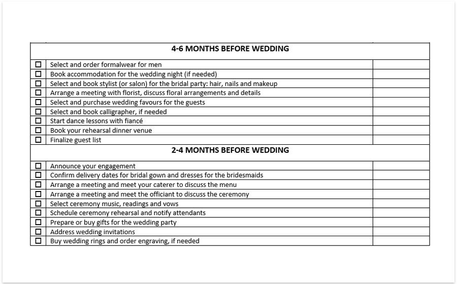 Wedding checklist pdf, wedding planning checklist pdf